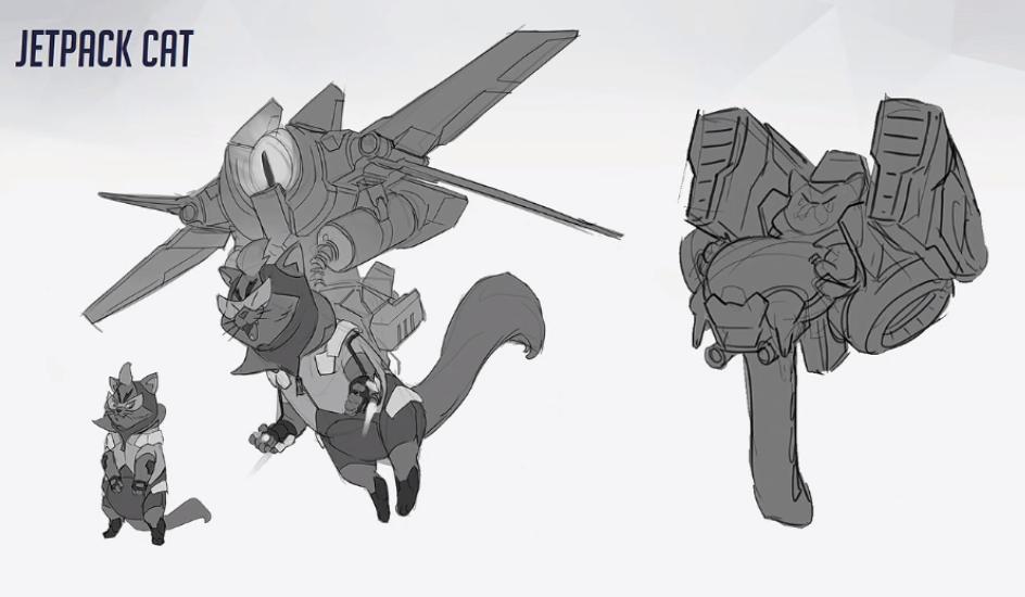 A Closer Look At Scrapped Overwatch Hero Jetpack Cat