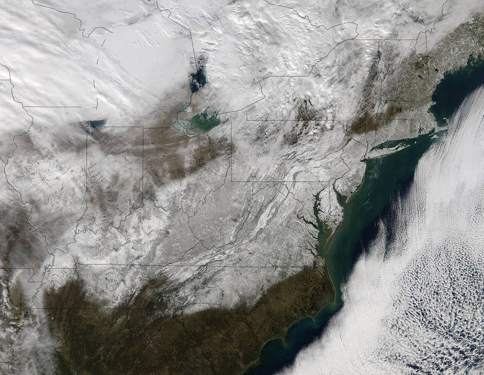 Look How Much Snow Fell on the Northeast This Weekend (Update: More Snow!)