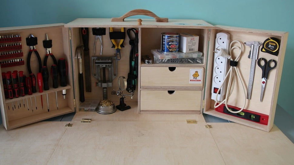 Build a Portable, Fold-Out Toolkit and Workbench for All Your Gear