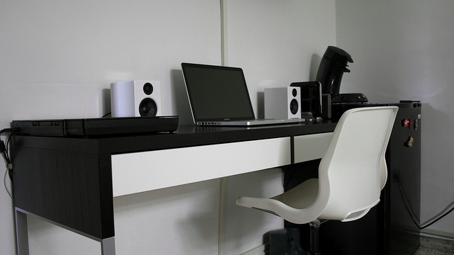 The Slim, Black and White Workspace