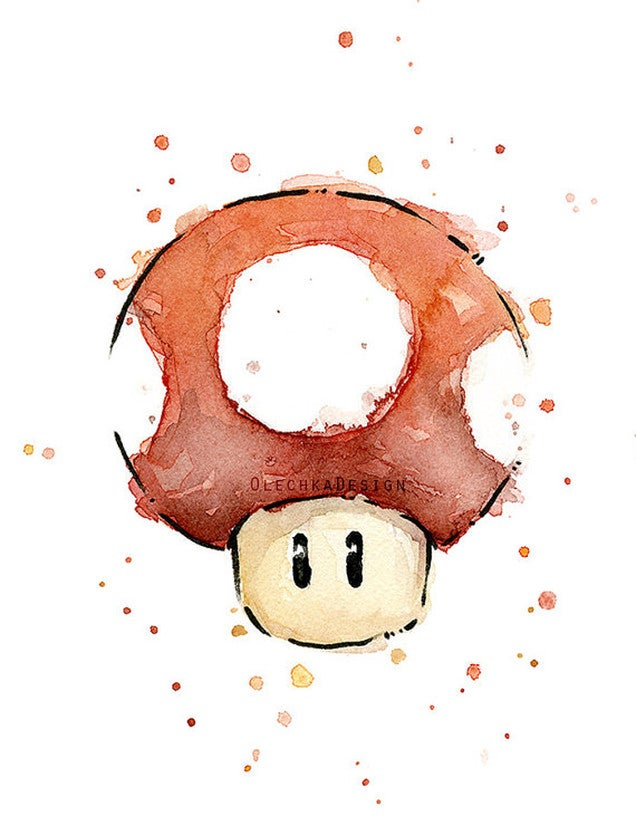Watercolors Really Bring Out the Beauty in Mario Characters