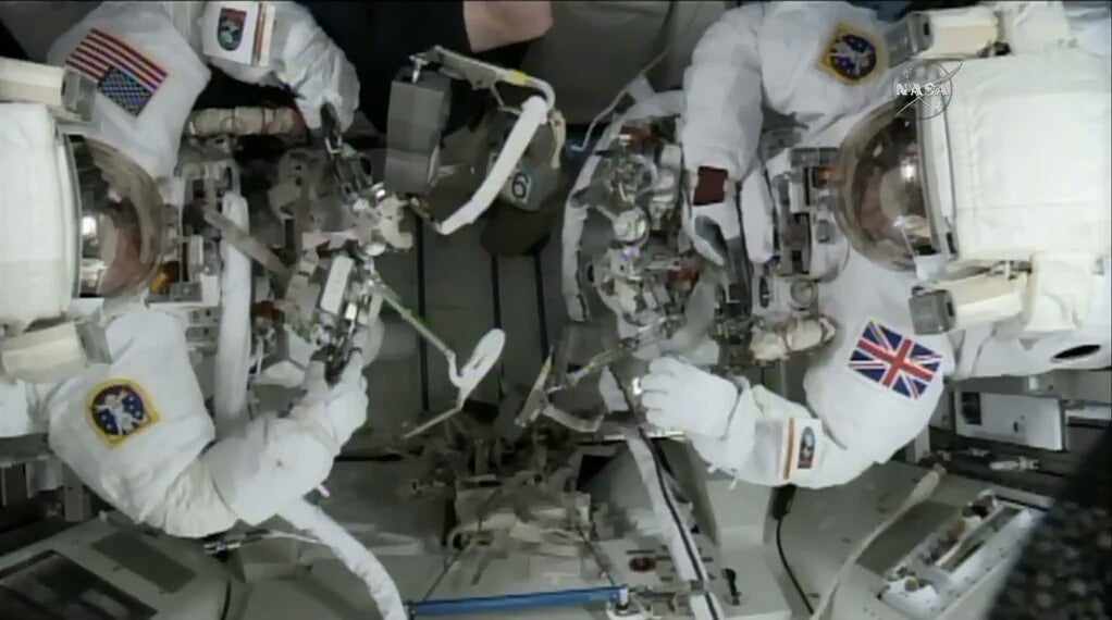 Watch as Astronauts Scramble Around Outside the Space Station (LIVE)