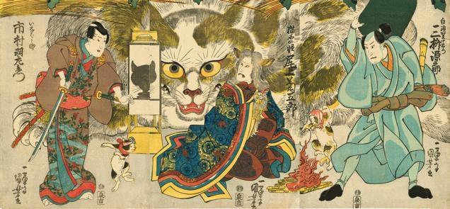 Cats Make for Wonderful Japanese Art