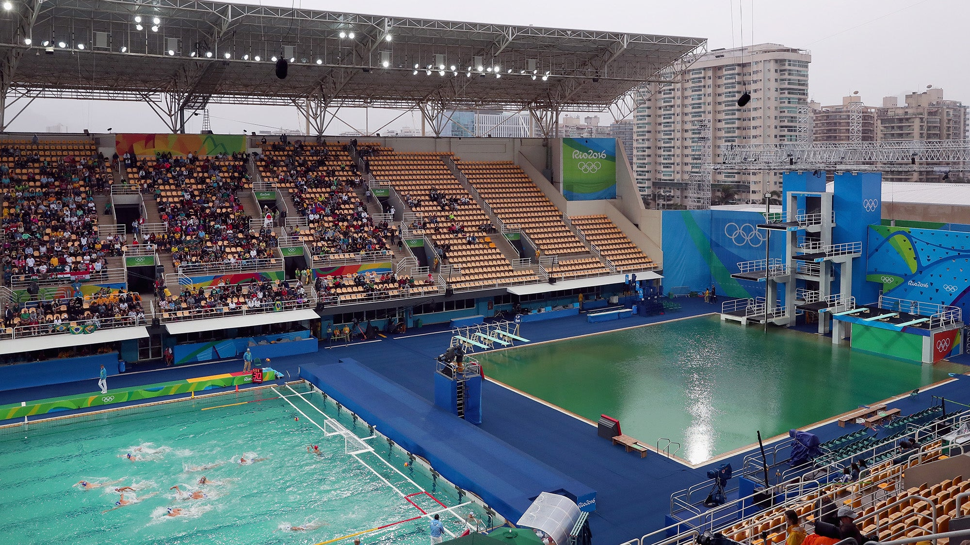 Oh God, Another Olympic Pool Turned Green