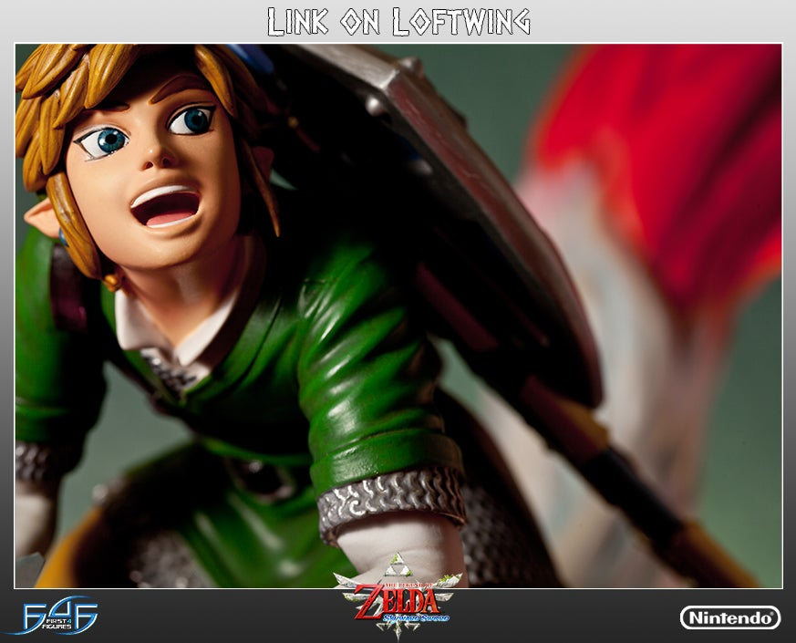 Link Is So Damn Happy Riding His New Skyward Sword Statue