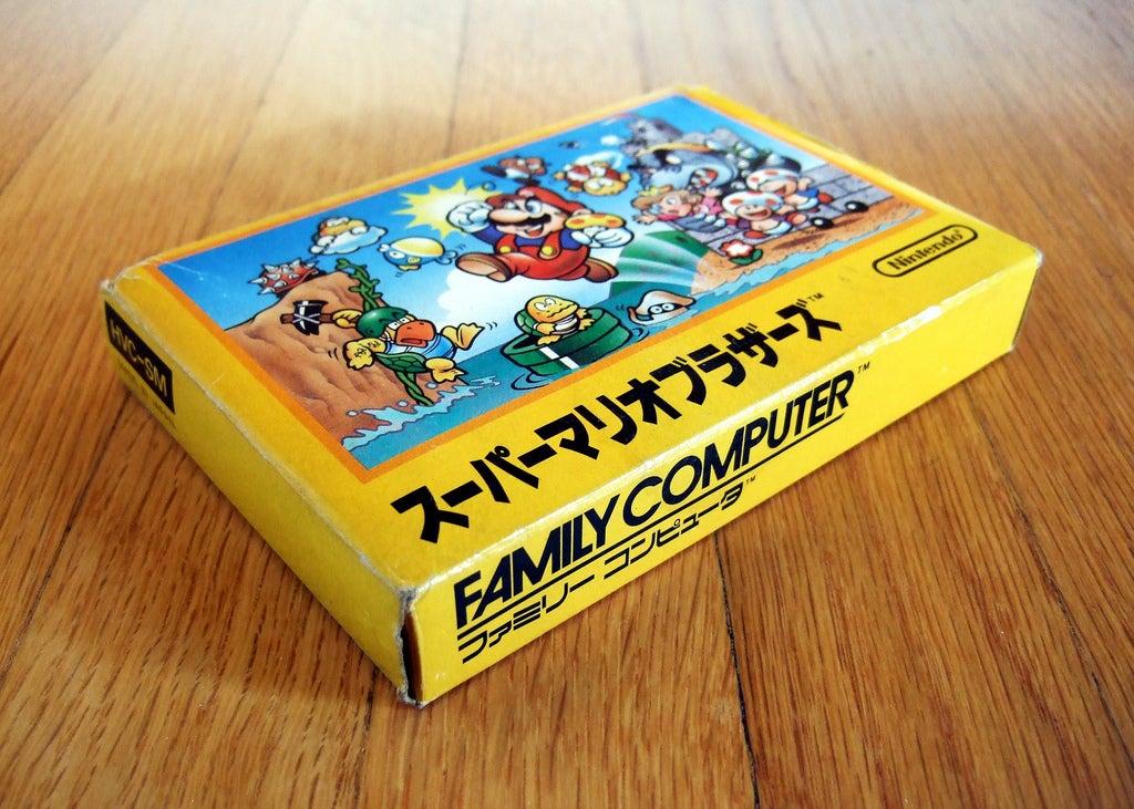 Stop And Admire The Original Super Mario Bros. Box Art