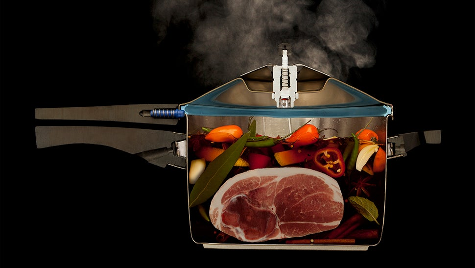 Cool pictures of food cut in half while it is cooking