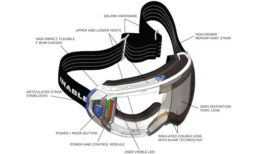 An Impossibly Thin Heating Element Stops These Goggles From Fogging Up