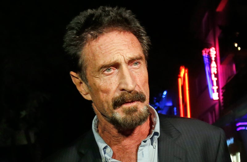 Intel Lawyers Tell John McAfee He Can't Call His Company 'John McAfee'