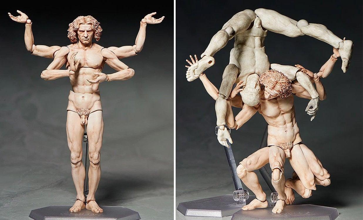 Da Vinci's Vitruvian Man Proves Action Figures Can Be Art