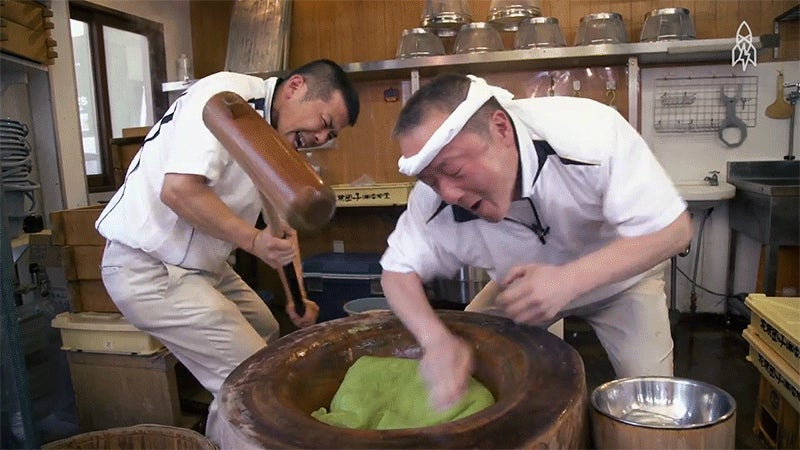 Pounding Rice for Mochi Requires Equal Parts Bravery and Skill