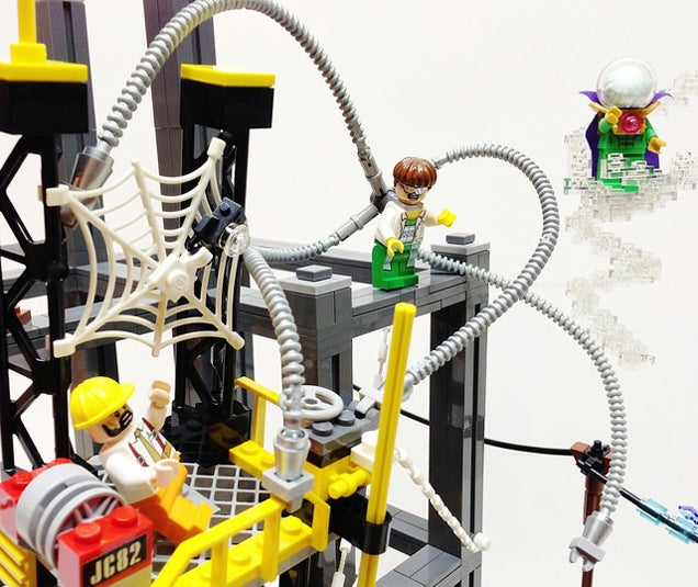 LEGO Spider-Man Vs. Sinister Six Fan-Build Is Full Of Details