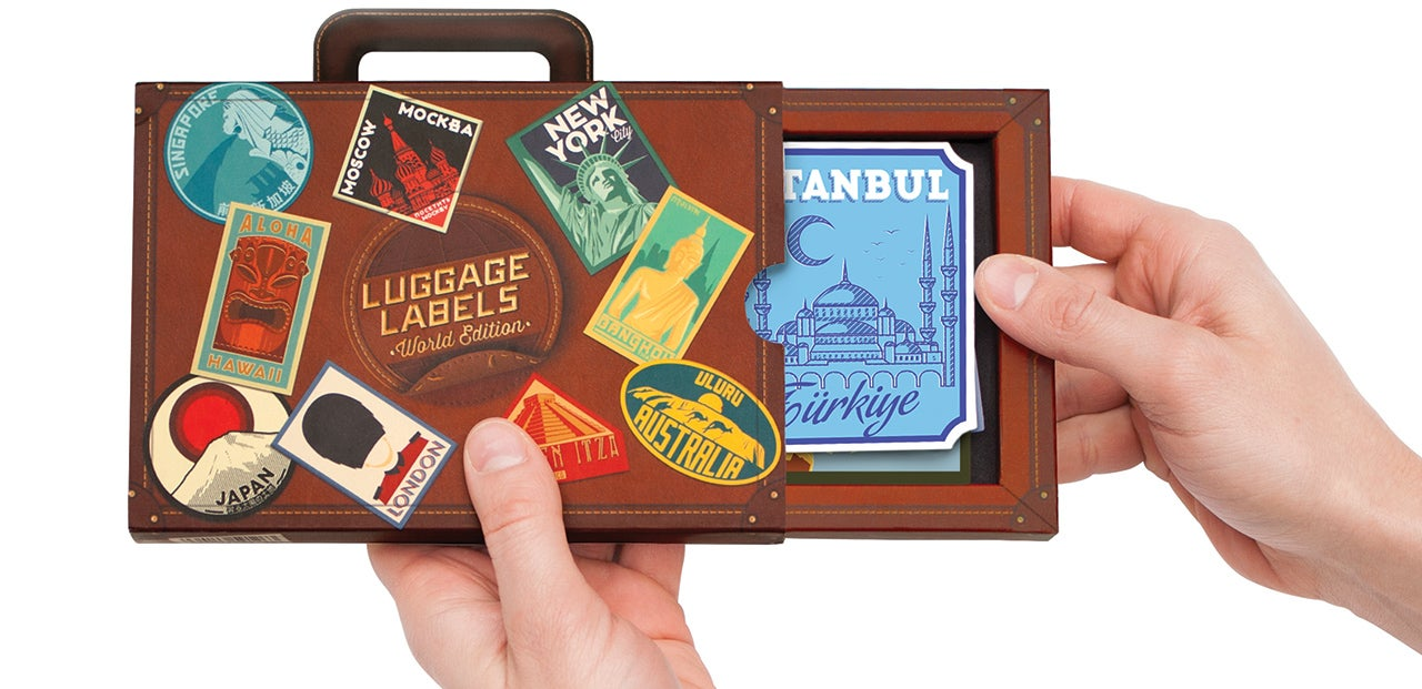 Modern Luggage Decals Let You Humblebrag About Your Travels