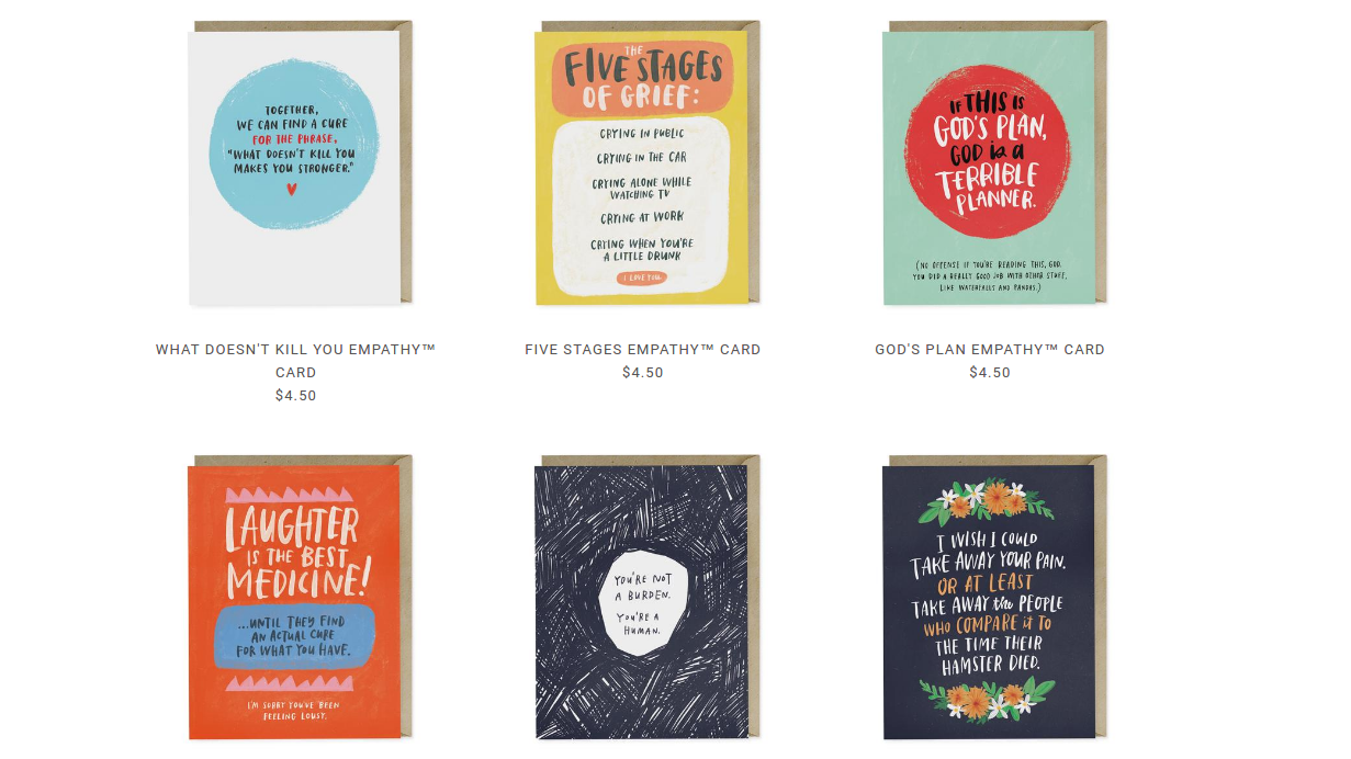 These Non-Sappy Cards Help You Support Friends With Cancer