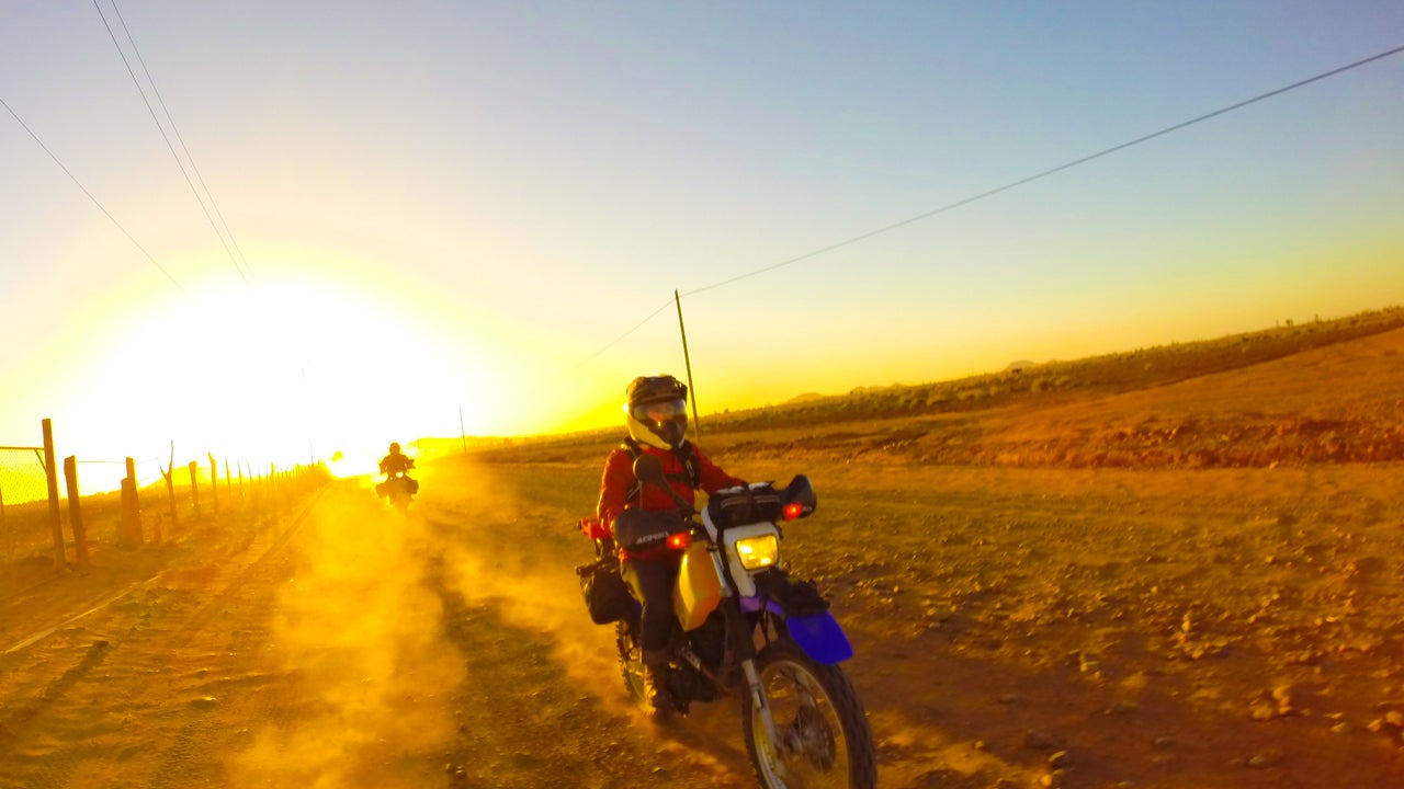 Riding Across Baja At Night