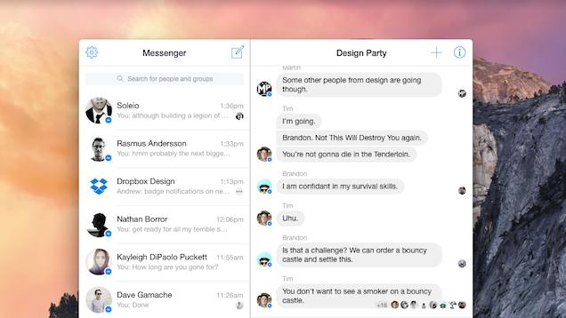 Messenger for Mac Turns Facebook Messenger Into an App