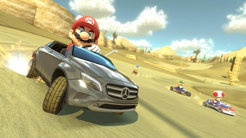 You Can Download a Mercedes Benz in Mario Kart 8