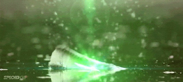 Silly video imagines if crocodiles could shoot lasers at other animals
