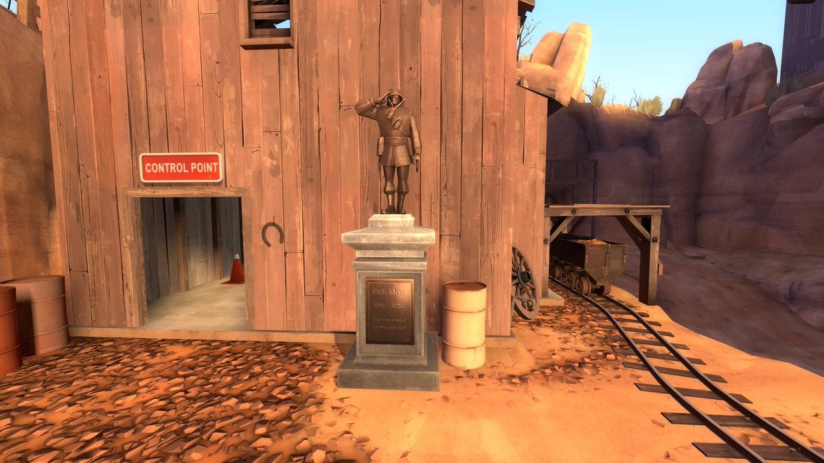 Memorial Statues Honouring Soldier Voice Actor Rick May Appear In Team Fortress 2