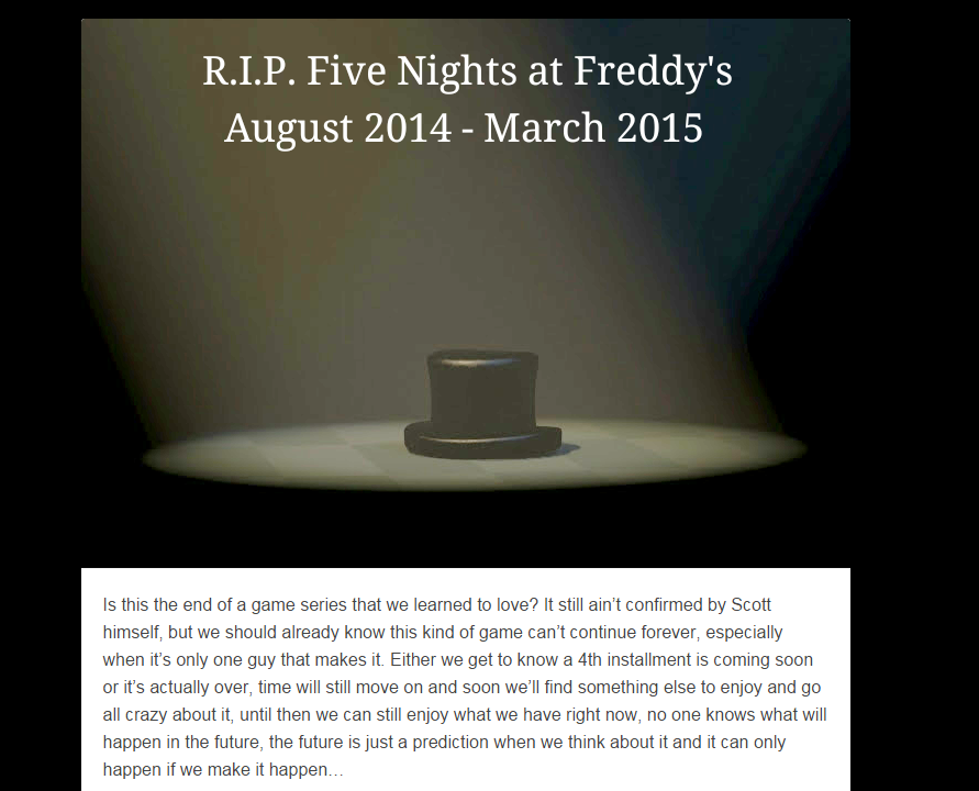 Why Five Nights at Freddy's Fans Are Freaking Out Over A Hat