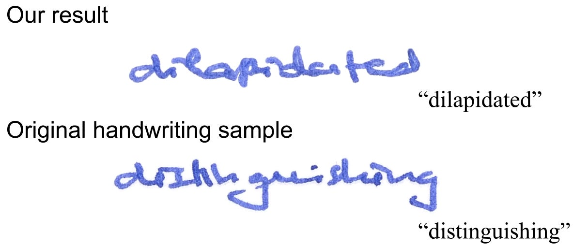 New Software Can Perfectly Forge Handwriting