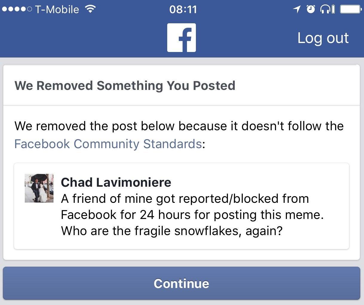 Facebook Thinks Saying