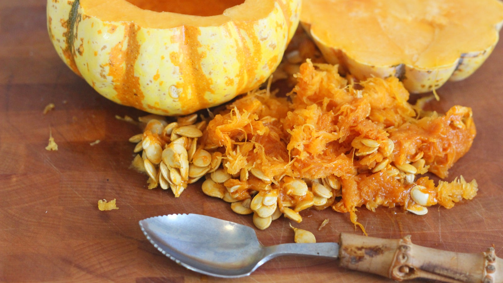 De-Seed Tiny Squashes With A Grapefruit Spoon
