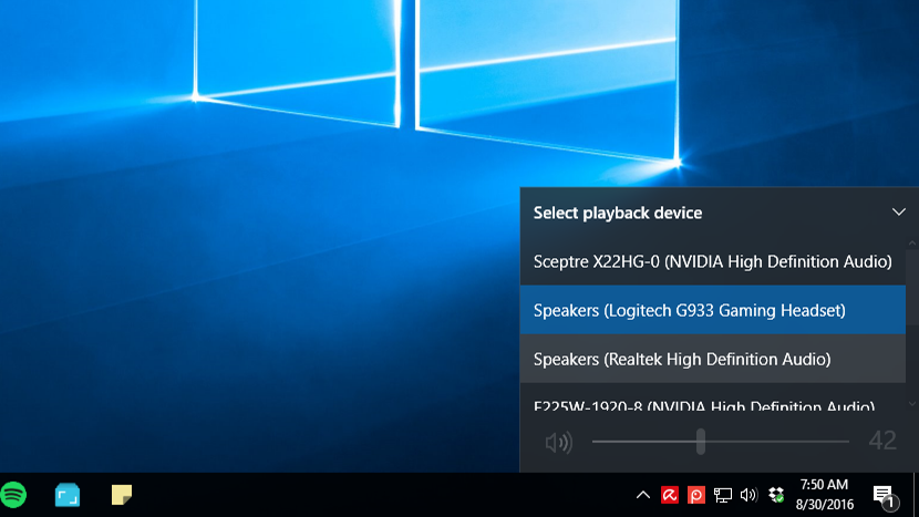 Switch Audio Playback Devices Easier In The Windows 10 Anniversary Update
