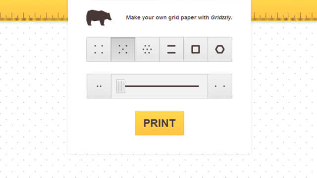 Gridzzly Creates Printable Grid Paper With Customised Lines And Dots