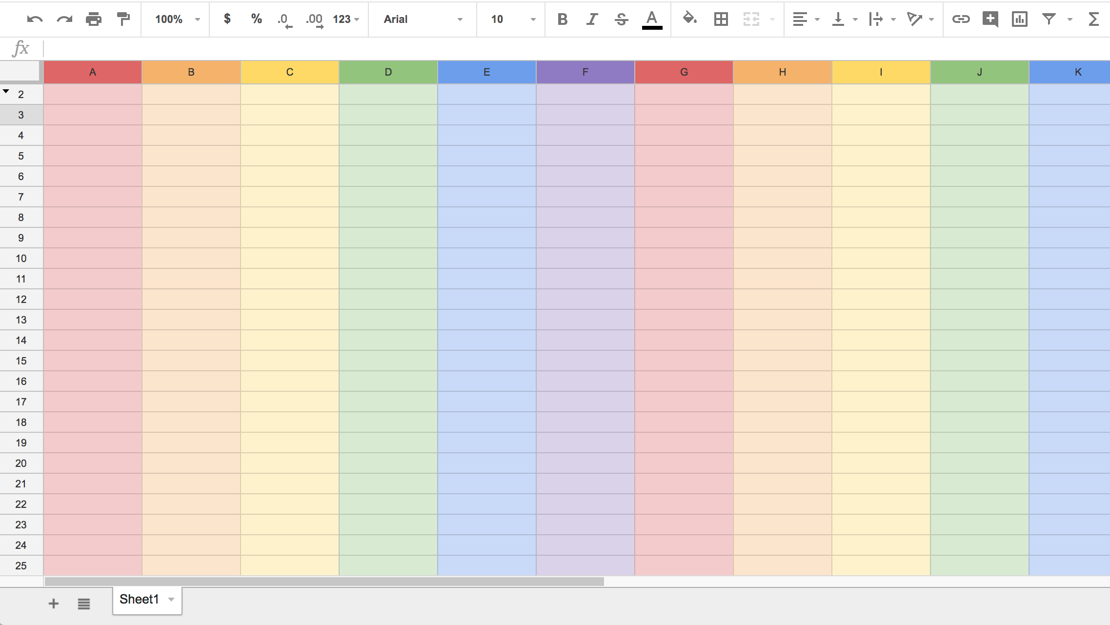 How To Get Rainbow-Themed Google Sheets To Celebrate Pride