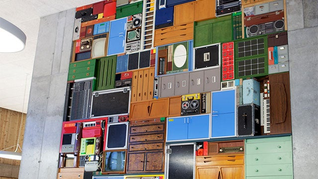 Man Plays Tetris In Real Life, With A Bunch Of Real Stuff