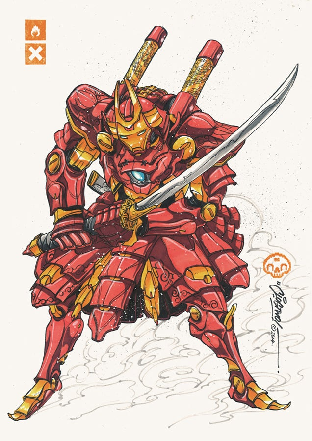 Iron Man Looks Badass In Samurai Mech Armour