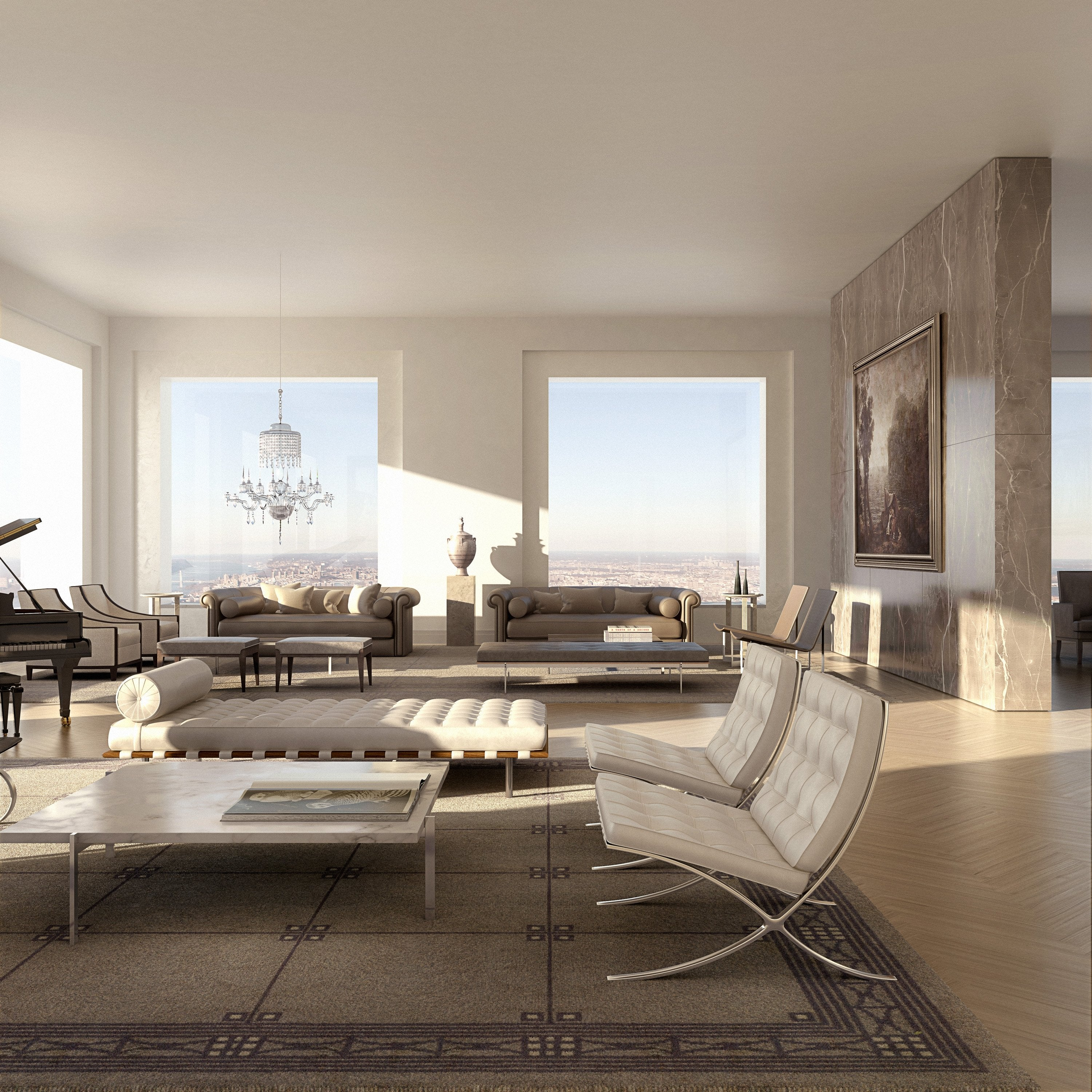 New Apartments Topped On On The L A: The View From The Top Of NYC's Tallest New Apartment