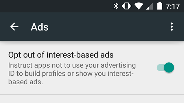 Opt Out of Interest-Based Ads to Get Less Creepy Ads on Android