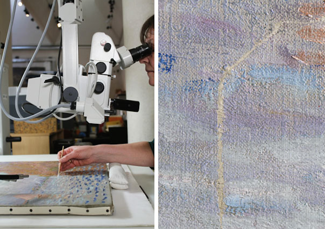 How a $US12 Million Monet Was Repaired After Some Idiot Punched It