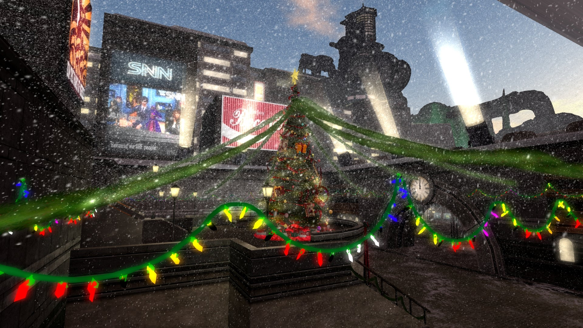 It's Christmas In Final Fantasy's Midgar, Atop The Plate At Least
