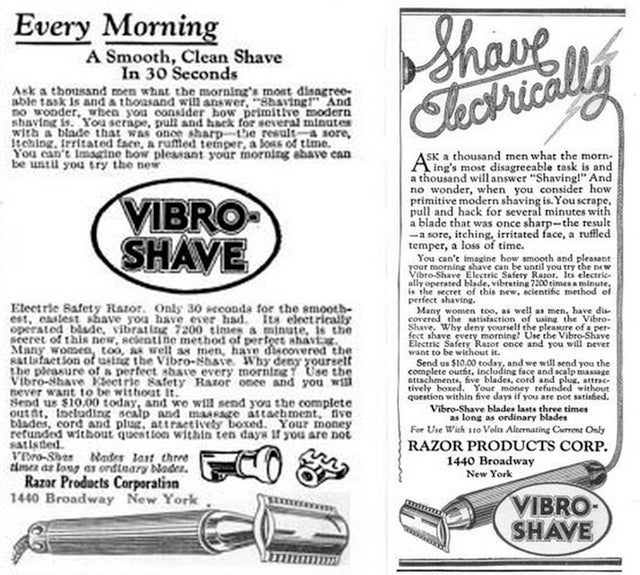 This Was An Electric Razor (And Face Massager!) in 1926