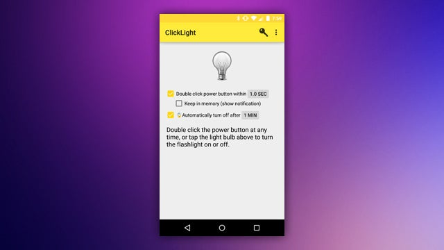 ClickLight Enables Your Phone's Flashlight with the Power Button