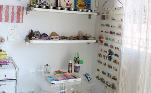 Keep Kids' Small Toys in a Hanging Jewelry Holder