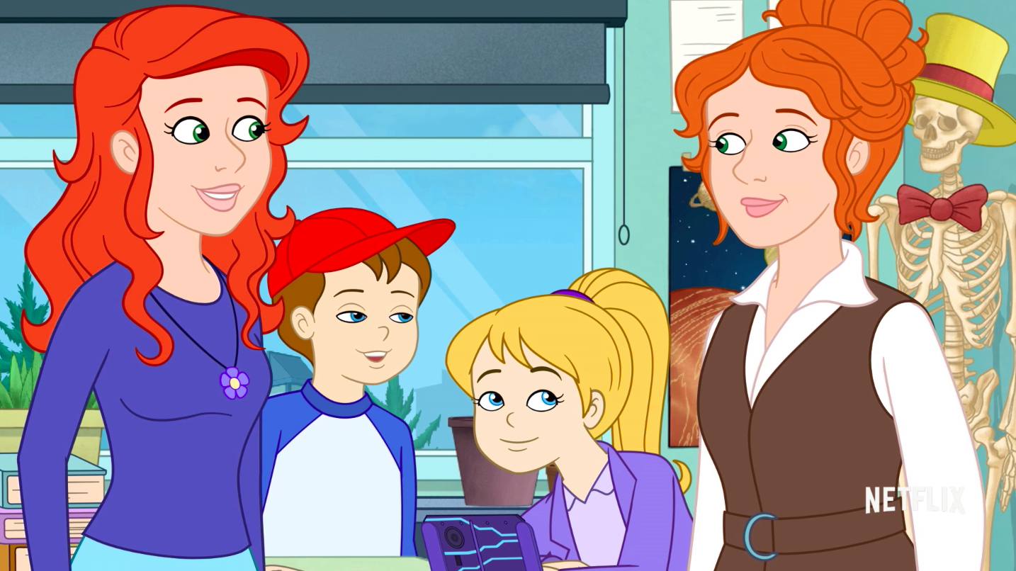 The Original Ms Frizzle Hands The Keys Over To A New Generation In The Magic School Bus Rides Again Trailer