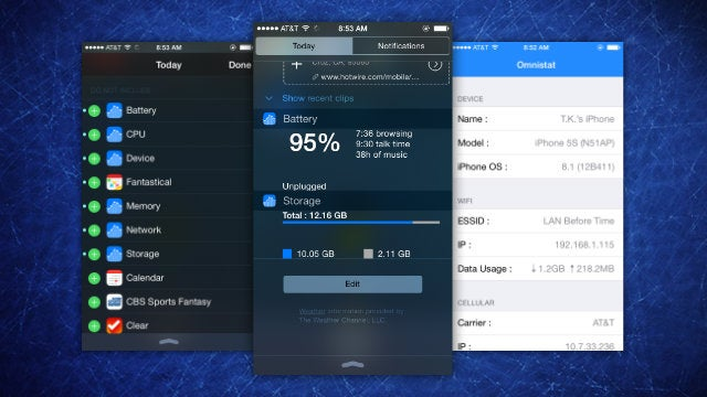 Omnistat Puts A System Monitor In Your iPhone's Notification Center
