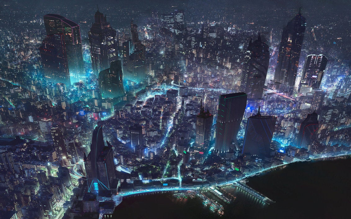 This amazing photo of a city is actually a game world map