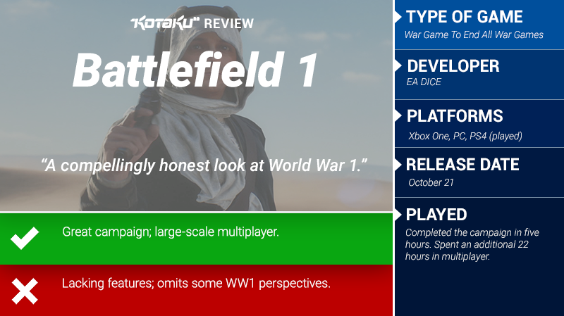 Battlefield 1: The Kotaku Review
