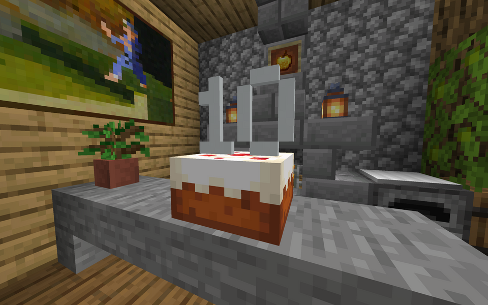 Minecraft Players Are Celebrating 10 Years With Cakes, Artwork And More