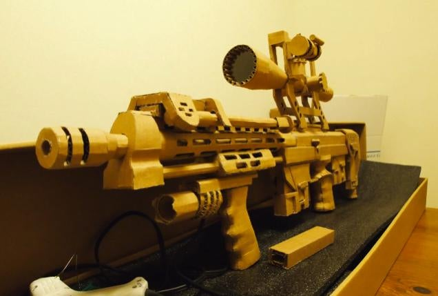 Perhaps the Best Cardboard Gun You'll Ever See