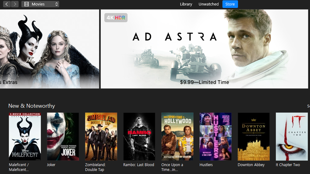 Apple Is Selling A Bunch Of 4K Movies For Less Than $10 On iTunes Right Now