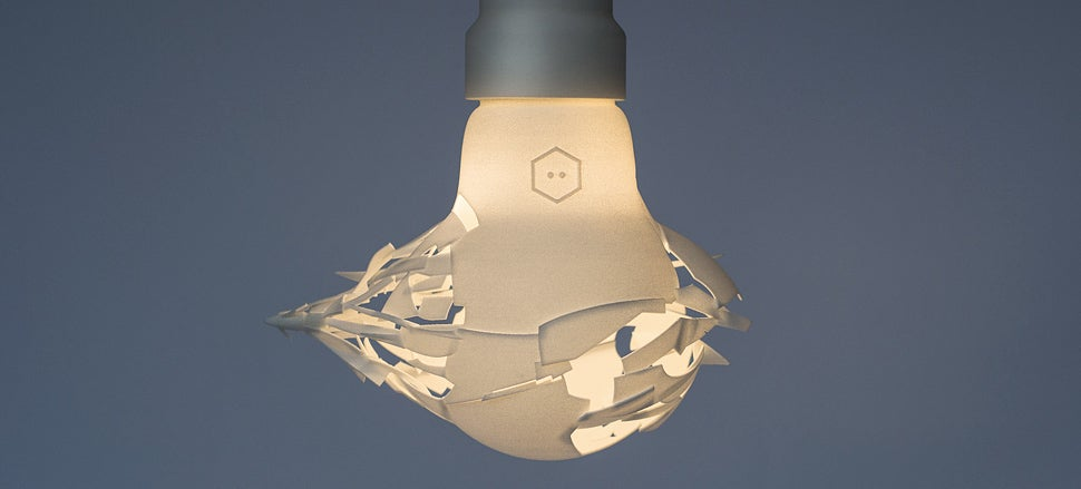 This Lightbulb Comes Shattered On Purpose