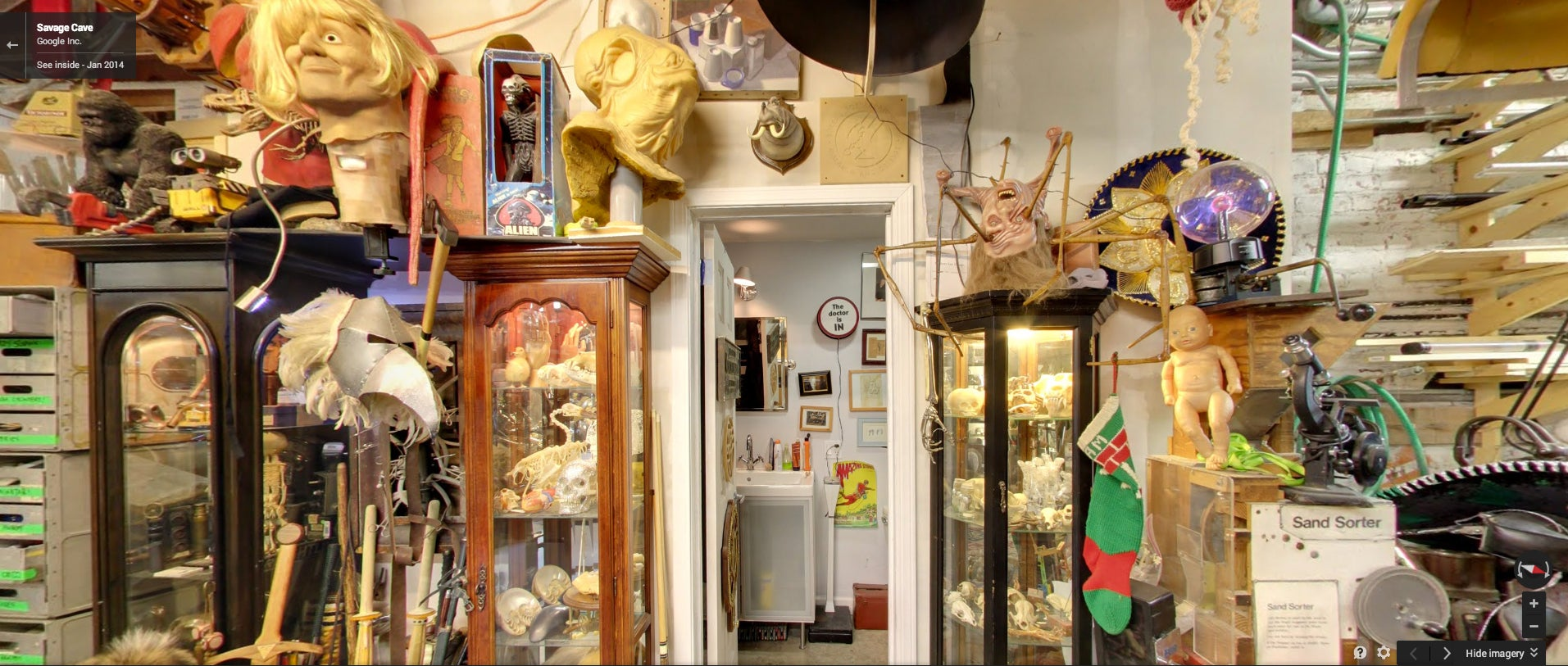 Walk Around Adam Savage's Mini-Museum on Google Street View