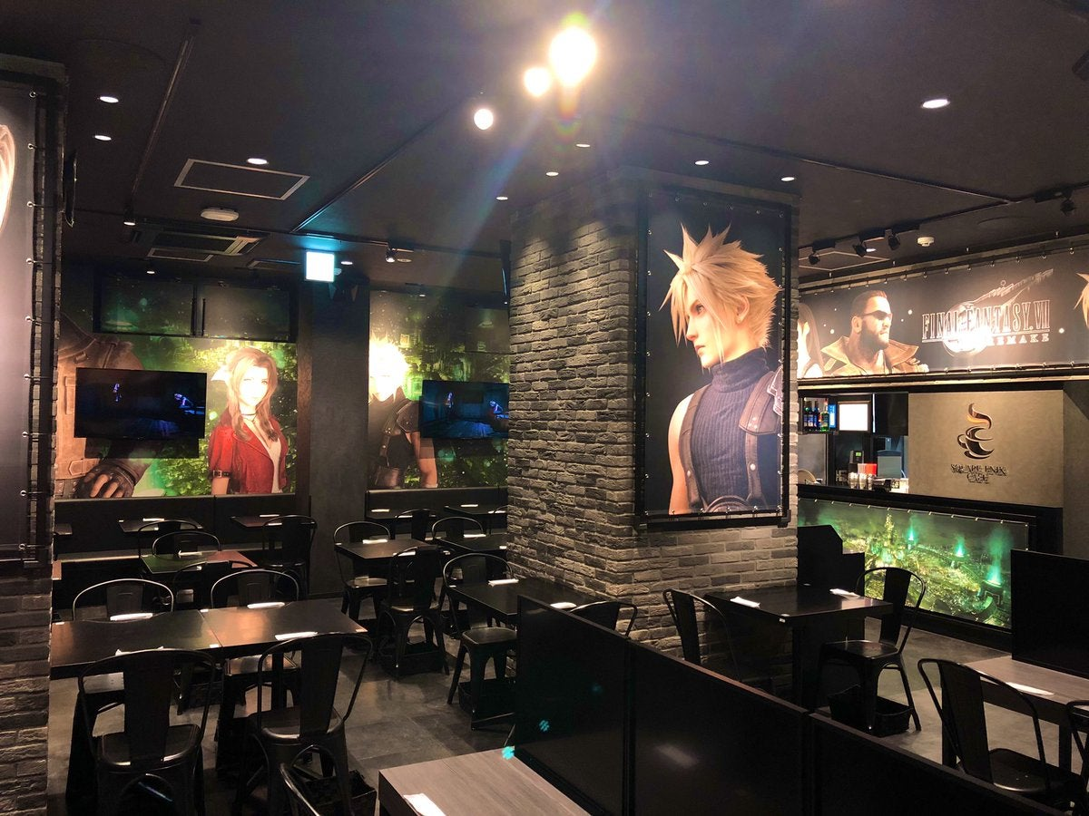 Square Enix Cafes Are Covered In Final Fantasy VII Remake