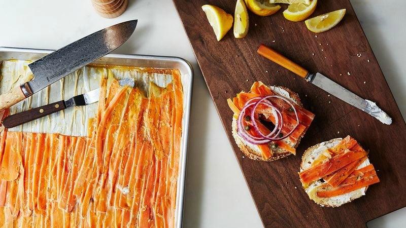 Carrot 'Lox' Is a Tasty Vegetarian Bagel Topper